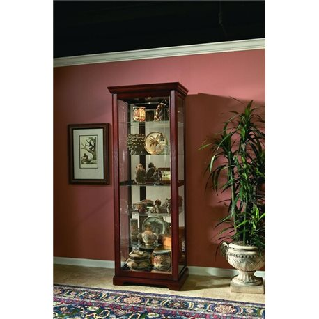 Two Way Slde Door Curio Victorian Cherry