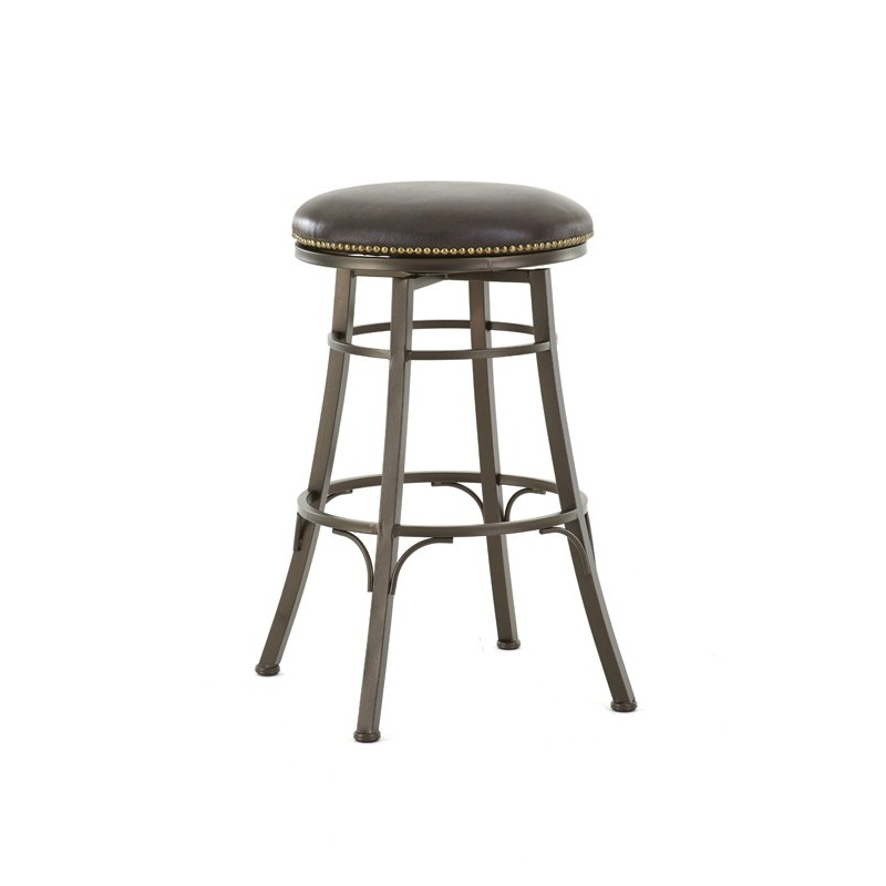 Bali Backless Metal Bar Stool With Swivel Seat Cedar