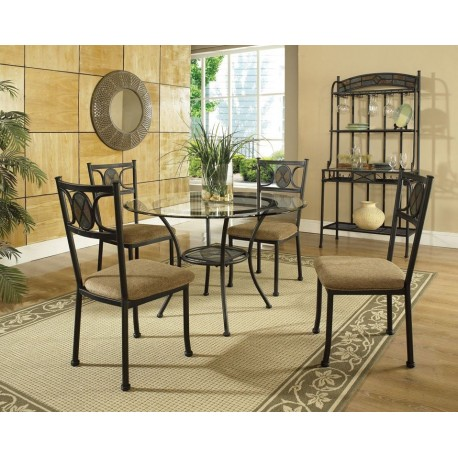 Carolyn Matal and Glass 5pc. Dining Set