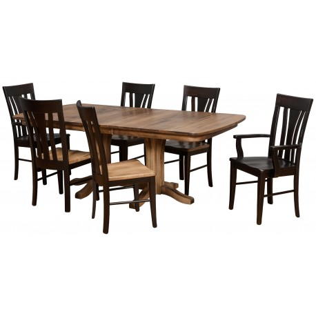 Millsdale Dining Group w/Double Pedestal Table