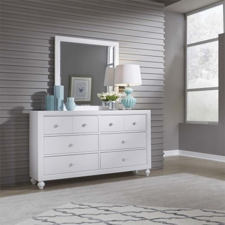Cottage View Dresser Mirror Cedar Hill Furniture