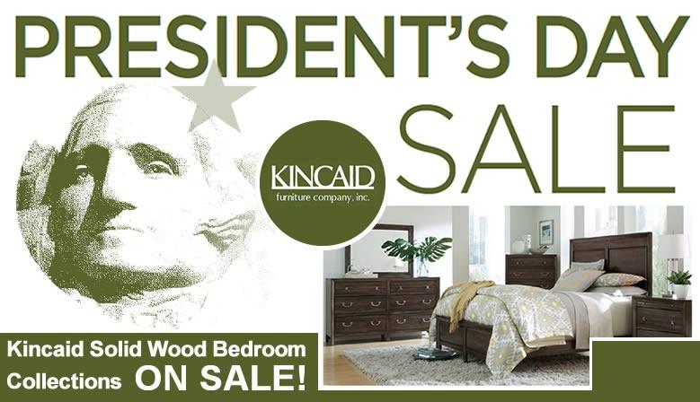 Kincaid solid wood bedroom furniture on sale.