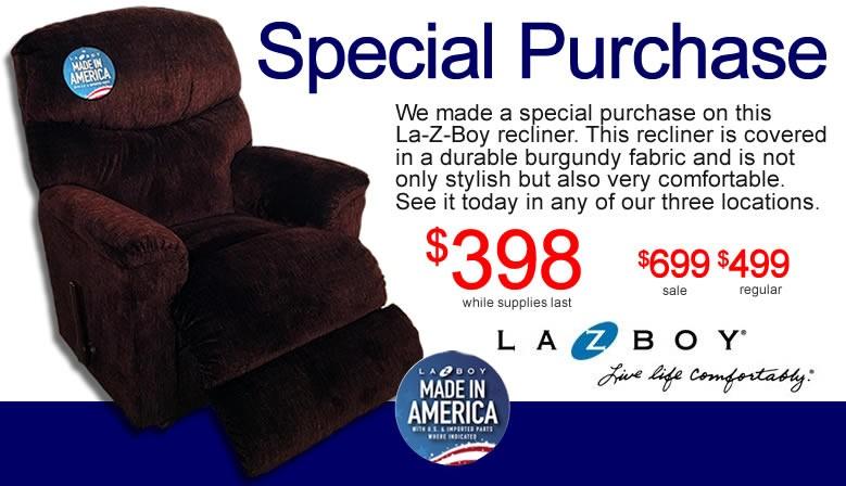 La-Z-Boy Larson Recliner Special Purchase