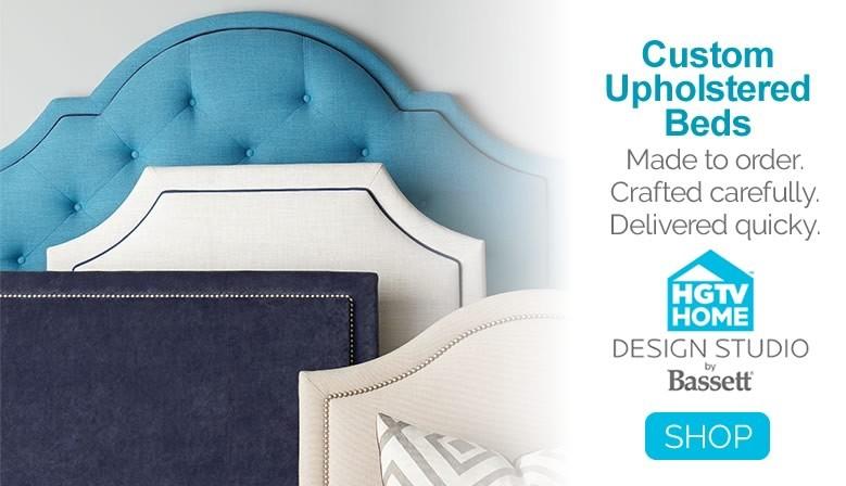 HGTV Design Studio Custom Upholstered Beds by Bassett