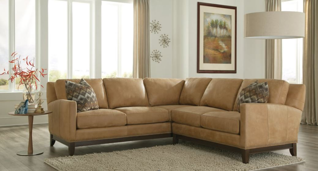 Smith Brothers Leather Sectional Personalized Living Room Furniture Made In The Swiss Amish Tradition